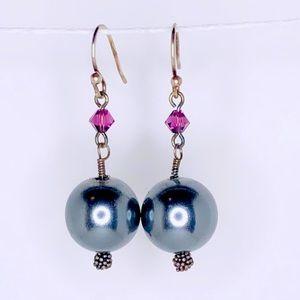Swarovski Glass Pearl Drop Earrings